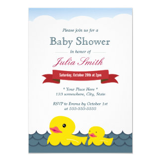 Cute Rubber Ducks Baby Shower Card