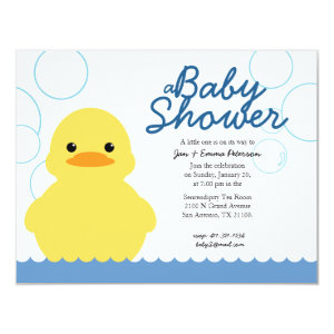 Rubber ducky baby shower invitations cute baby shower invitations cute rubber ducky baby shower invitation 425 filmwisefo