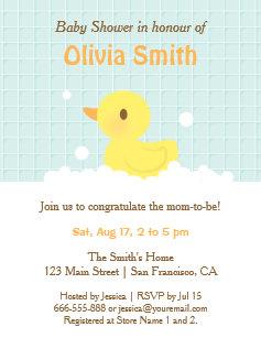 Rubber ducky baby shower invitations zazzle cute rubber ducky baby shower invitations filmwisefo