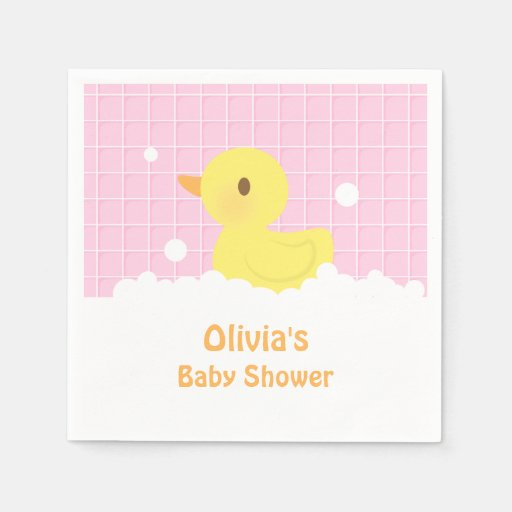 Cute Rubber Ducky Baby Shower Party Supplies Napkin