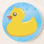 Cute Rubber Ducky/Blue Bubbles Drink Coaster