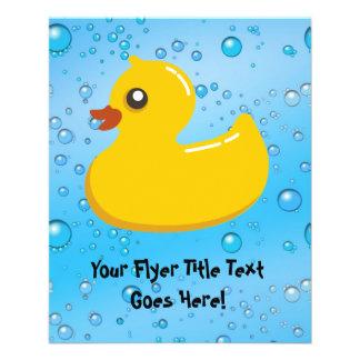 Cute Rubber Ducky/Blue Bubbles Flyer