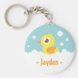 Cute Rubber Ducky in Bubble Bath Keychain