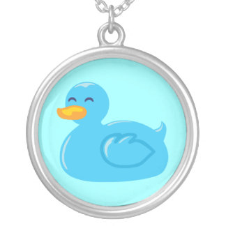 Cute Rubberducky Silver Plated Necklace