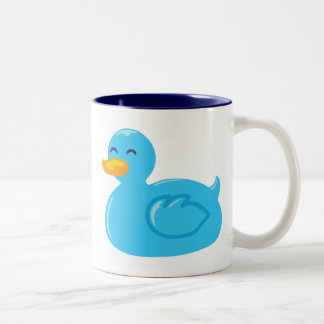 Cute Rubberducky Two-Tone Coffee Mug