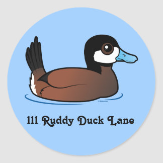 Cute Ruddy Duck Customizable Address Label