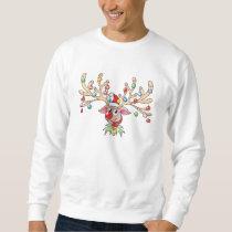 Cute Rudolf Reindeer with Christmas Lights Shirts