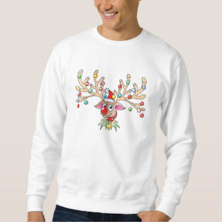 Cute Rudolf Reindeer with Christmas Lights Shirts