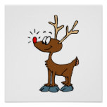 Cute rudolph poster