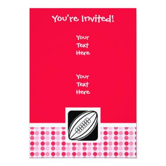 Cute Rugby 5x7 Paper Invitation Card
