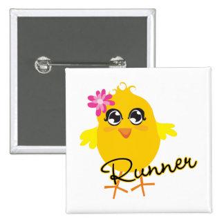 Cute Runner Chick Buttons