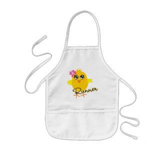 Cute Runner Chick Kids' Apron