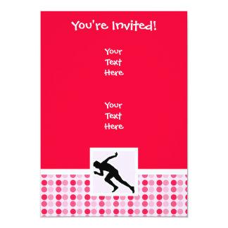 Cute, Running 5x7 Paper Invitation Card