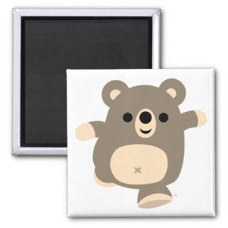 Cute Running Cartoon Bear magnet