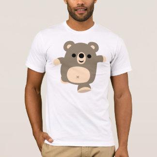 Cute Running Cartoon Bear T-shirt