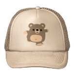 Cute Running Cartoon Bear Trucker Hat