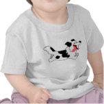 Cute Running Cartoon Border Collie Kids T-Shirt