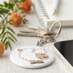 Cute Running Cartoon Sheep Keychain
