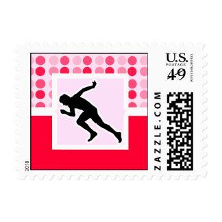 Cute, Running Stamp