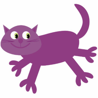 Cute running purple cat special acrylic magnet