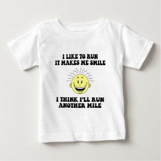 Cute running saying baby T-Shirt