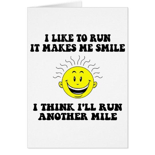 Cute running saying card