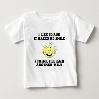 Cute running saying infant t-shirt