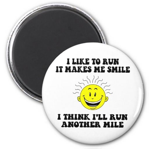 Cute running saying refrigerator magnets