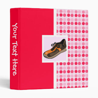 Cute Running Shoe Vinyl Binder