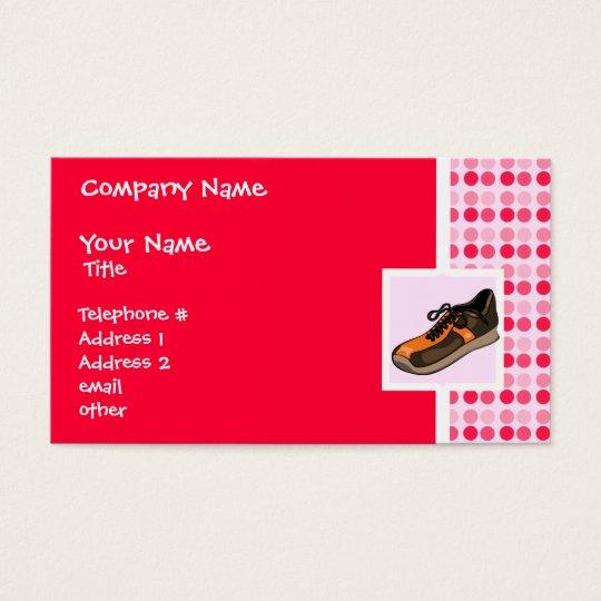 Cute Running Shoe Business Card