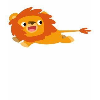 Cute Rushing Cartoon Lion Women T-Shirt shirt