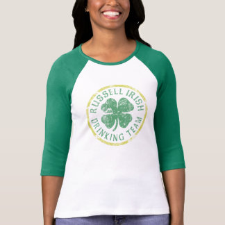 Cute Russell Irish Drinking Team St Patrick's Day T-Shirt