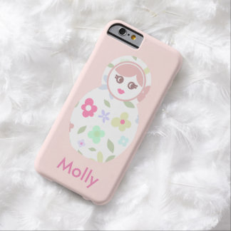 Cute Russian Doll Monogram Style Barely There iPhone 6 Case