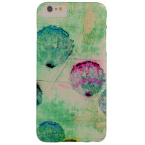 Cute, rustic, digital art round brush strokes barely there iPhone 6 plus case
