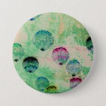 Cute, rustic, digital art round brush strokes button
