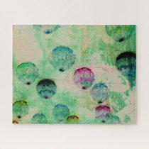 Cute, rustic, digital art round brush strokes jigsaw puzzle