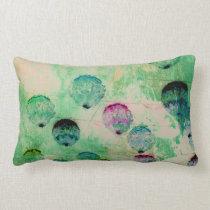 Cute, rustic, digital art round brush strokes lumbar pillow