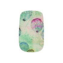Cute, rustic, digital art round brush strokes minx nail art