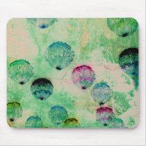 Cute, rustic, digital art round brush strokes mouse pad