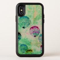 Cute, rustic, digital art round brush strokes OtterBox symmetry iPhone x case