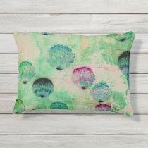 Cute, rustic, digital art round brush strokes outdoor pillow