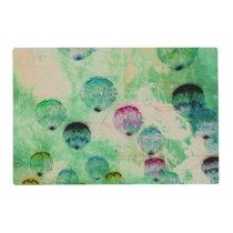 Cute, rustic, digital art round brush strokes placemat