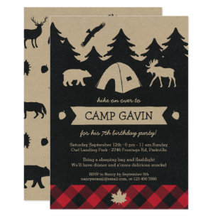 Camping Party Invitations Announcements Zazzle