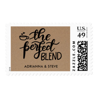 Cute Rustic Kraft Paper The Perfect Blend Wedding Postage