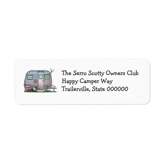 Cute RV Serro Scotty Camper Travel Trailer Label