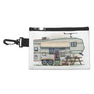 Cute RV Vintage Fifth Wheel Camper Travel Trailer Accessories Bags