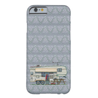 Cute RV Vintage Fifth Wheel Camper Travel Trailer Barely There iPhone 6 Case