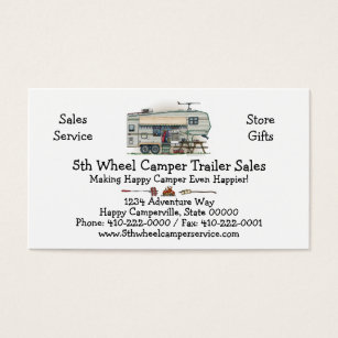 Fifth wheel camper business cards templates zazzle cute rv vintage fifth wheel camper travel trailer business card colourmoves