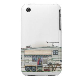 Cute RV Vintage Fifth Wheel Camper Travel Trailer iPhone 3 Case