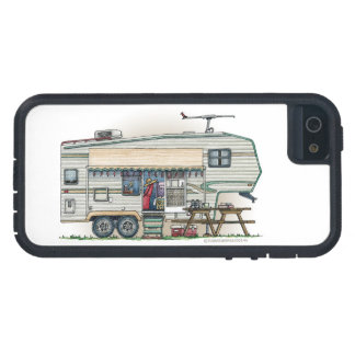 Cute RV Vintage Fifth Wheel Camper Travel Trailer iPhone 5 Cases